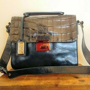 Badgley Mischka Leather Shoulder/Crossbody Bag